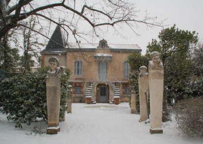 La Villa Antonine sous la neige !