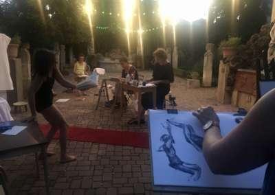 Villa Antonine : séance de dessin nocturne – jeudi 23 août