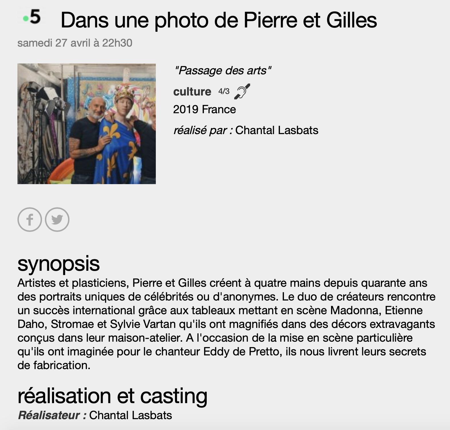 Chantal Labats et Pierre et Gilles