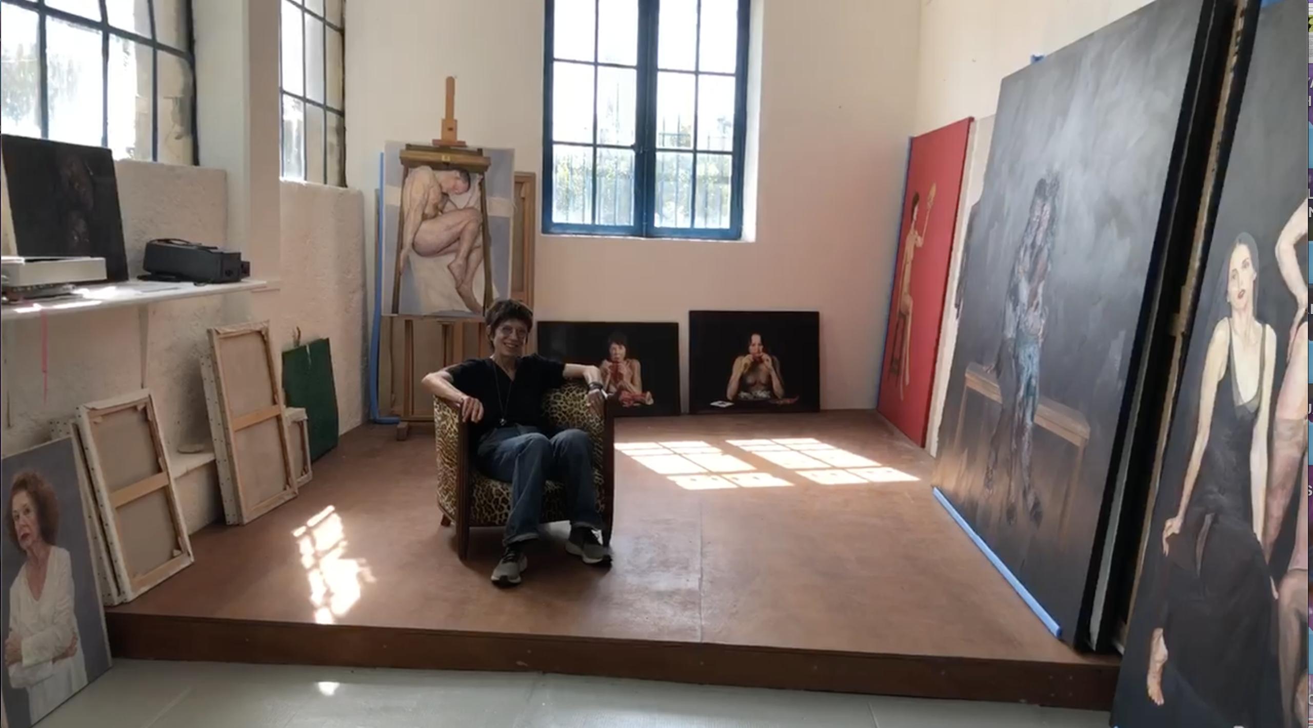 Dominique Renson dans son atelier