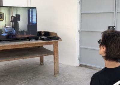 Dans l'atelier «exposition», un film de Chantal LASBATS